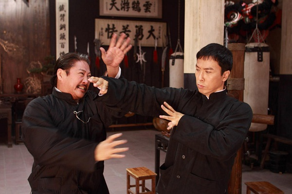 Hung Chun-nam (Sammo Hung) and Ip Man (Donnie Yen) face off in IP MAN 2: LEGEND OF THE GRANDMASTER