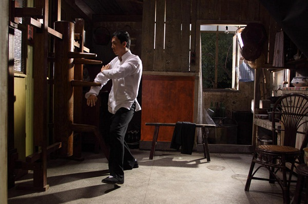 Ip Man (Donnie Yen) trains in a scene from IP MAN 2: LEGEND OF THE GRANDMASTER.